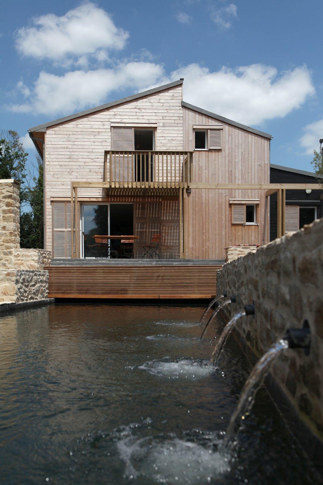 A bioclimatic house in Auray, Brittany , France Patrice Bideau  A bioclimatic house in Auray, Brittany, France by a.typique Patrice Bideau ( 2013 ) by Patrice Bideau