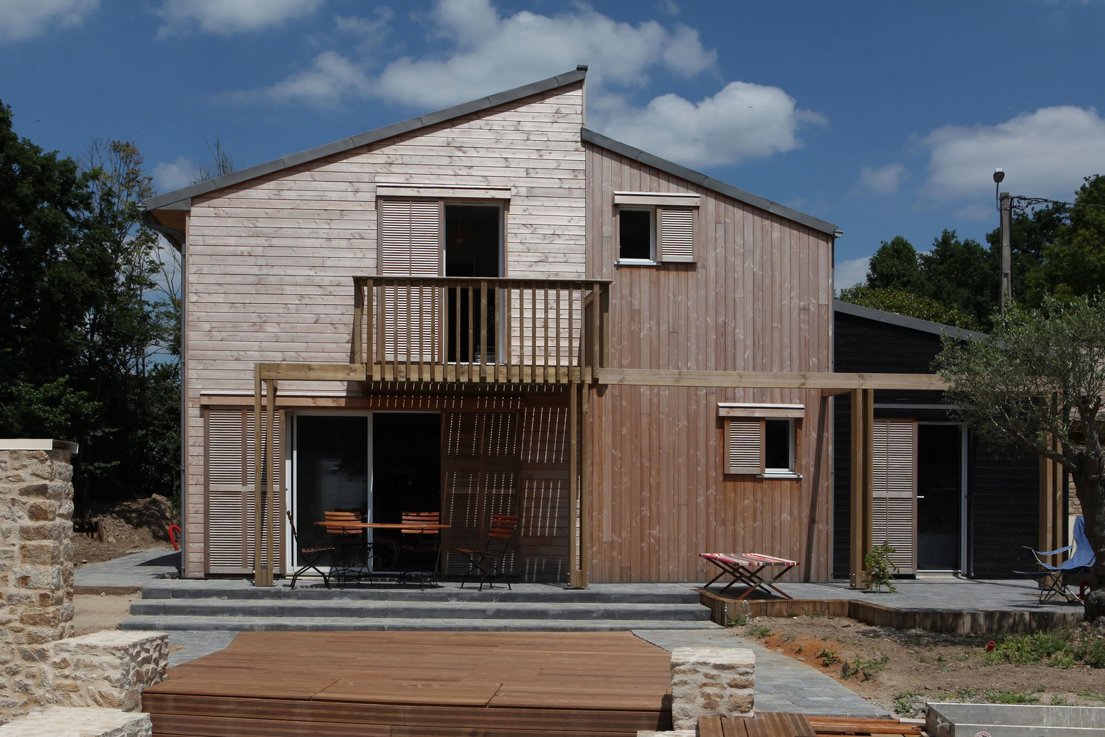 A bioclimatic house in Auray, Brittany , France Patrice Bideau  A bioclimatic house in Auray, Brittany, France by a.typique Patrice Bideau ( 2013 ) by Patrice Bideau