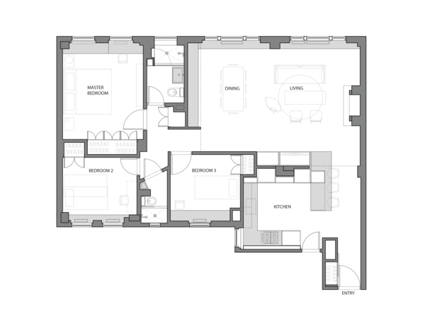Floor Plan  Photo 9 of Prewar Modern Upgrade modern home