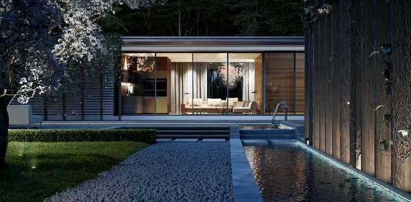Modern home with outdoor. Photo 3 of House on the lake