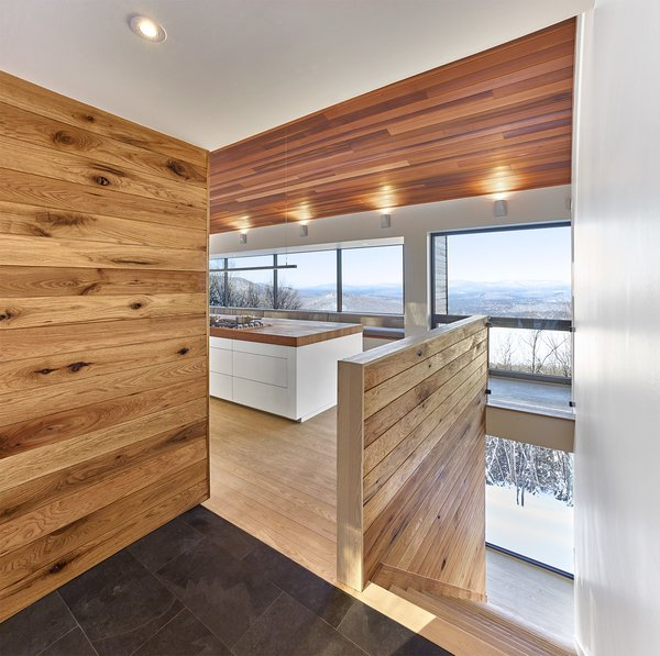 View from entry. By RobtiailleCurtis Photo 12 of Laurentian Ski Chalet modern home