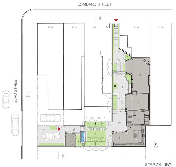 Site Plan, By RobitailleCurtis Photo 8 of Fitler Square House & Garden modern home