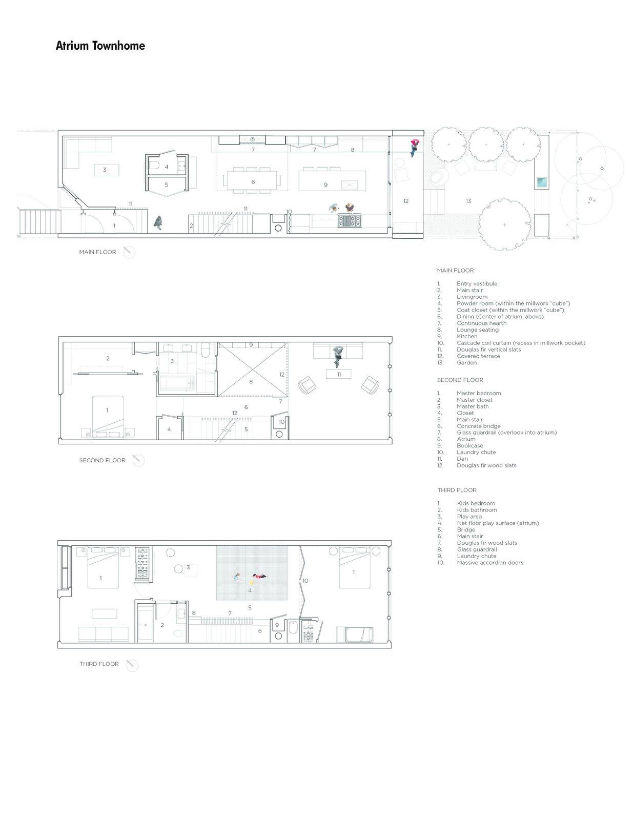 Floor plans  Atrium Townhome by RobitailleCurtis