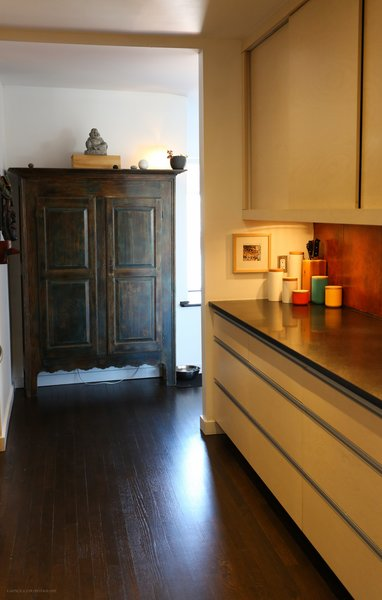 A Canadian armoire from the 19th century fits rightfully within the walls of the building built at that time. Photo 6 of A Penthouse gets reincarnated - from the 19th Century to the 21st modern home