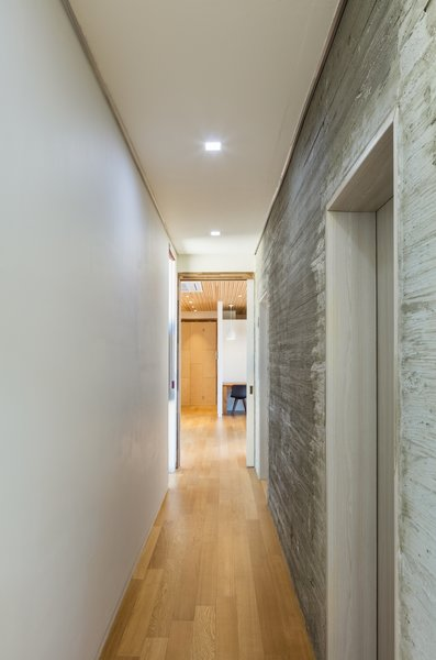 Modern home with hallway and medium hardwood floor. corridor Photo 6 of Apple Farm House