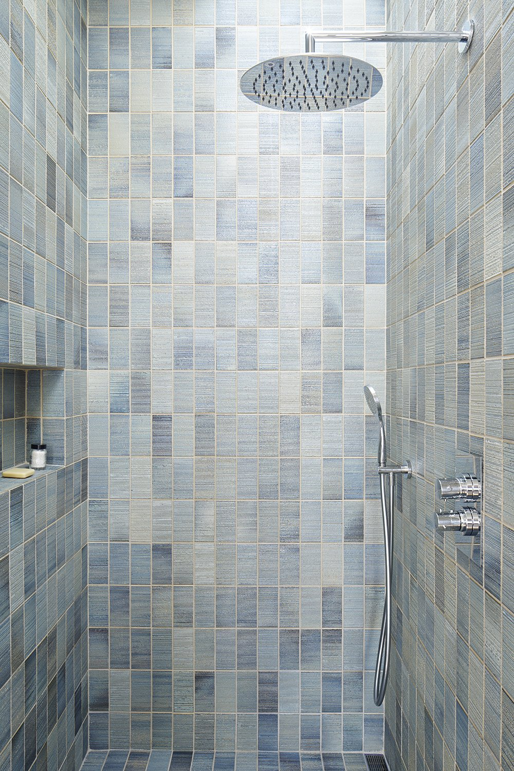 Tagged: Bath Room, Enclosed Shower, and Ceramic Tile Wall.  Randall Street by YAMAMAR Design
