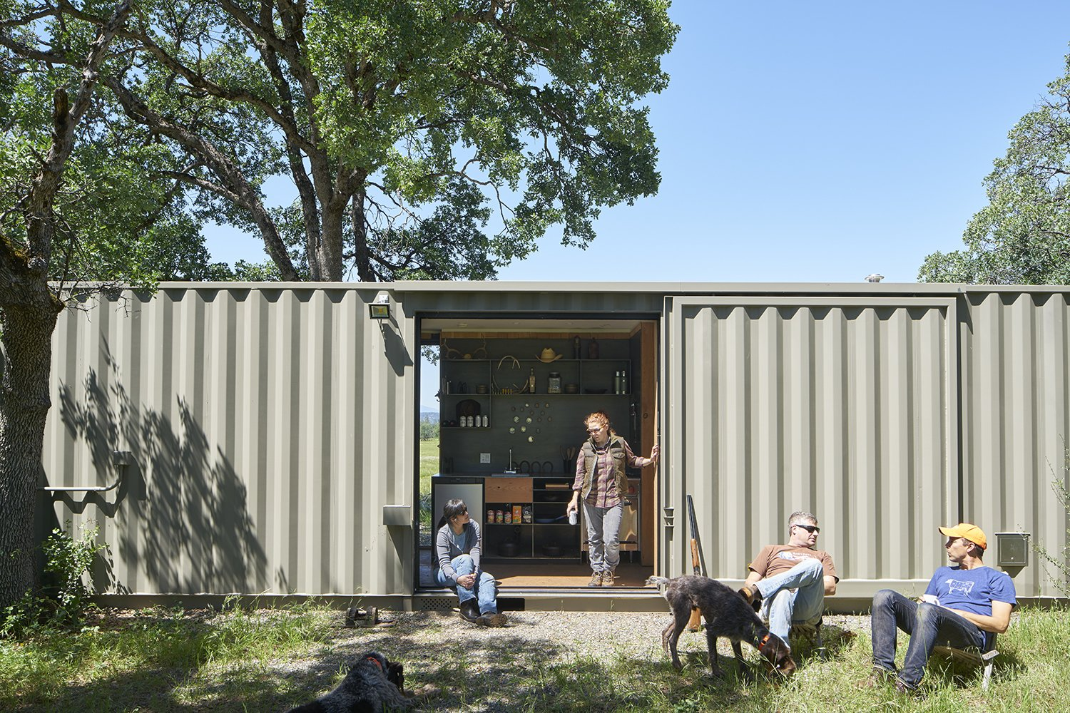 Tagged: Exterior, Shipping Container Building Type, Metal Roof Material, Flat RoofLine, and Metal Siding Material.  Container Cabin by YAMAMAR Design