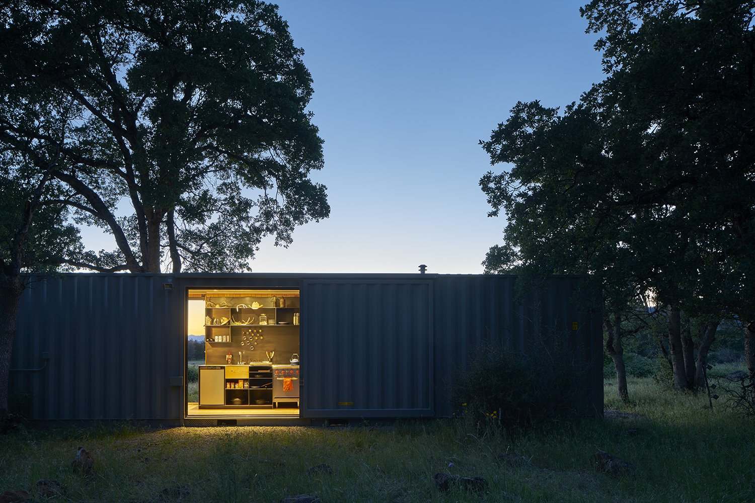 Tagged: Exterior, Shipping Container Building Type, Metal Roof Material, and Flat RoofLine.  Container Cabin by YAMAMAR Design