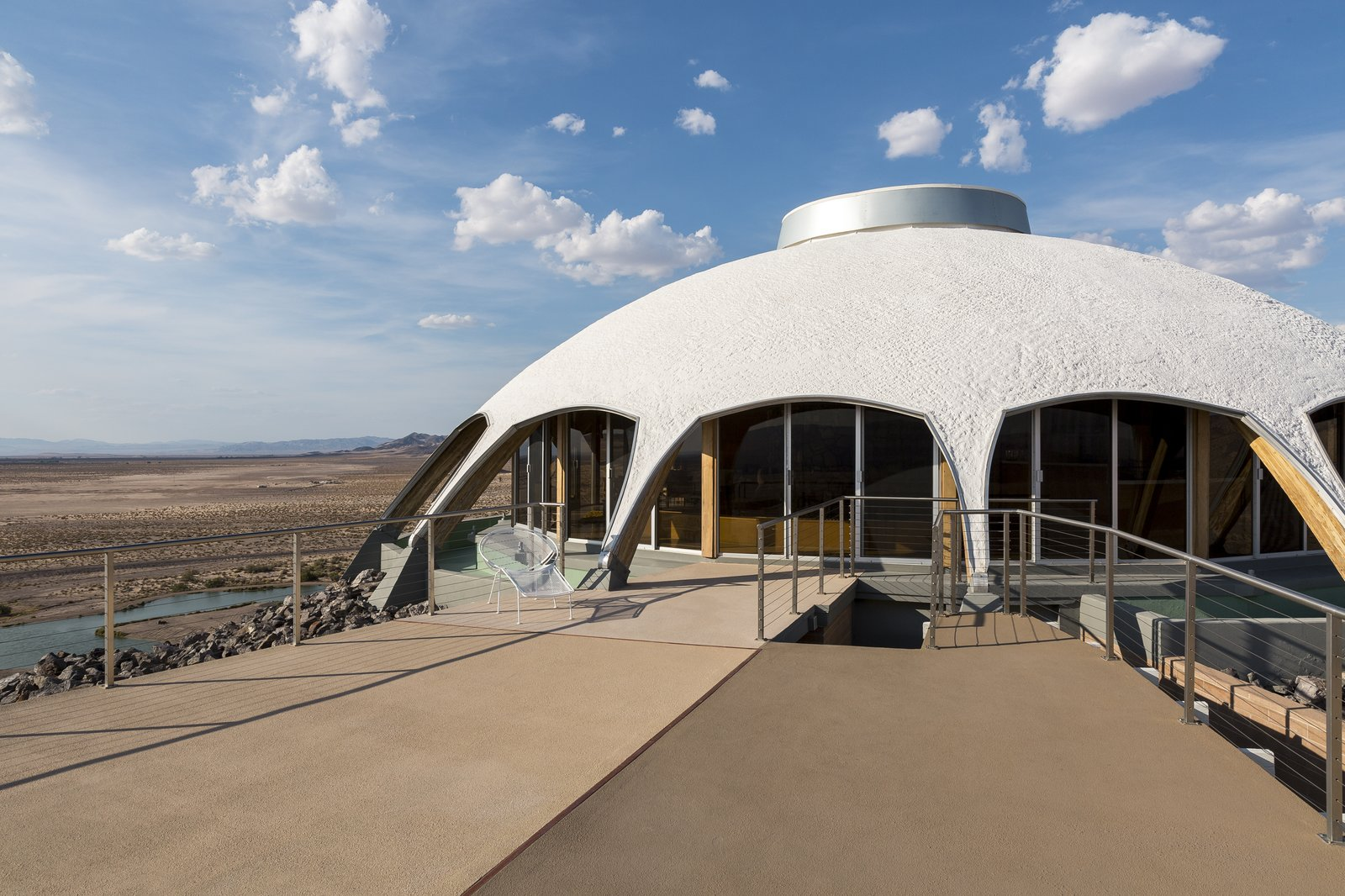 Tagged: Outdoor, Desert, and Large Patio, Porch, Deck. Volcano House by lance gerber