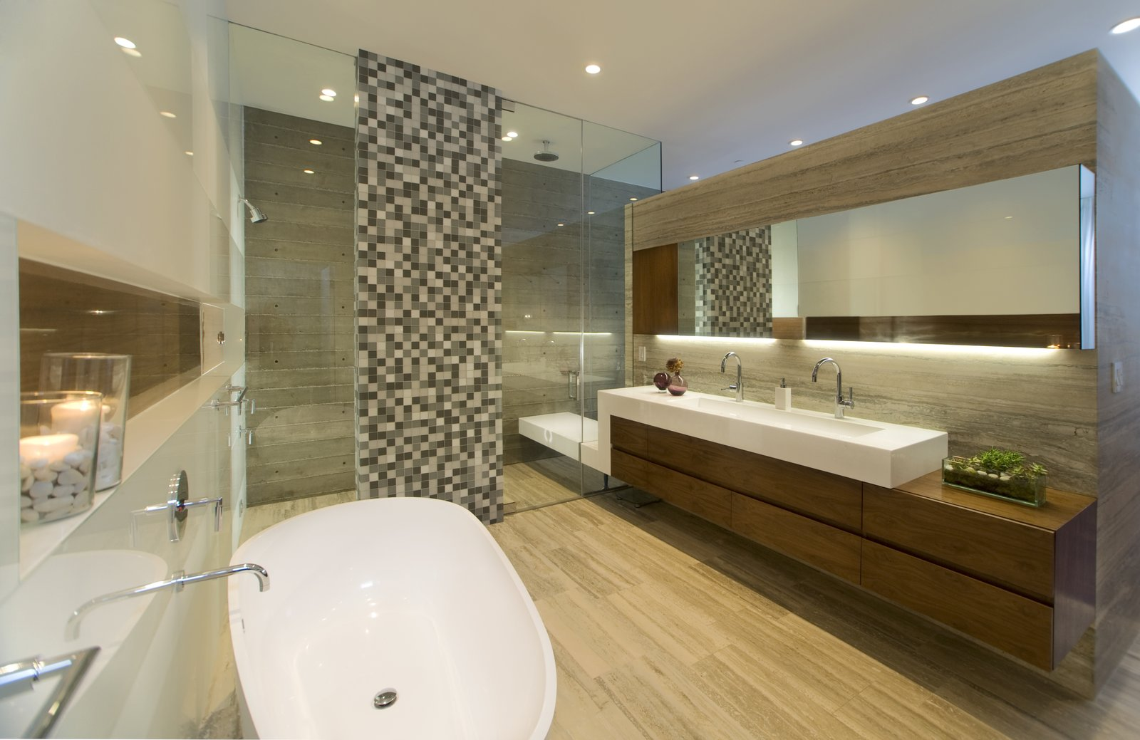 Master Bath  Manhattan Beach Residence by Daryl Olesinski