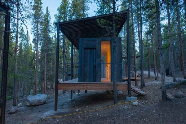 To replace the dorm living existence of past generations, Sommerfeld and his students set out to build 14 micro cabins for the COBS instructors, each less than 200 square feet.