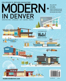 Drawing Inspiration - Photo 7 of 7 - Custom illustrated Modern In Denver cover by Christian Musselman
