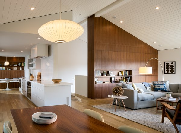 great room Photo  of Marin Midcentury modern home