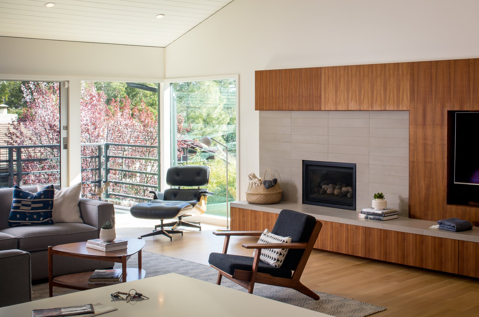 living room  Marin Midcentury by building Lab