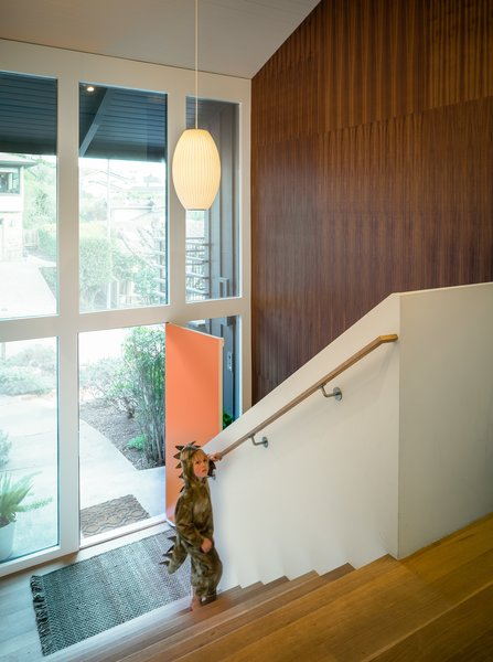entry foyer and stairs Photo 9 of Marin Midcentury modern home
