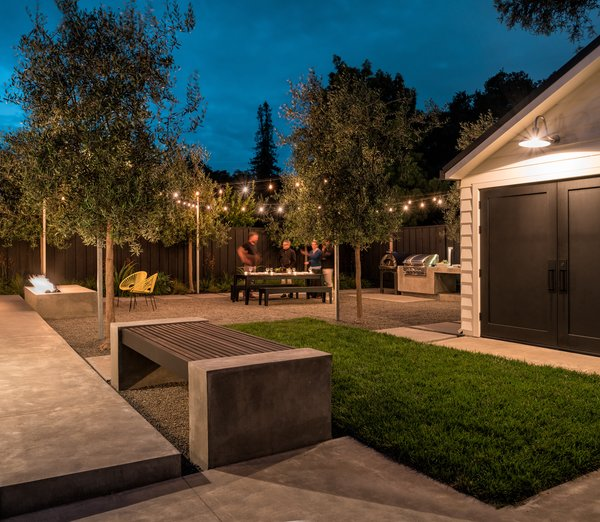 There is room to set up seating for an outdoor movie projected on side wall of the garage Photo 4 of Refreshing Bungalow modern home