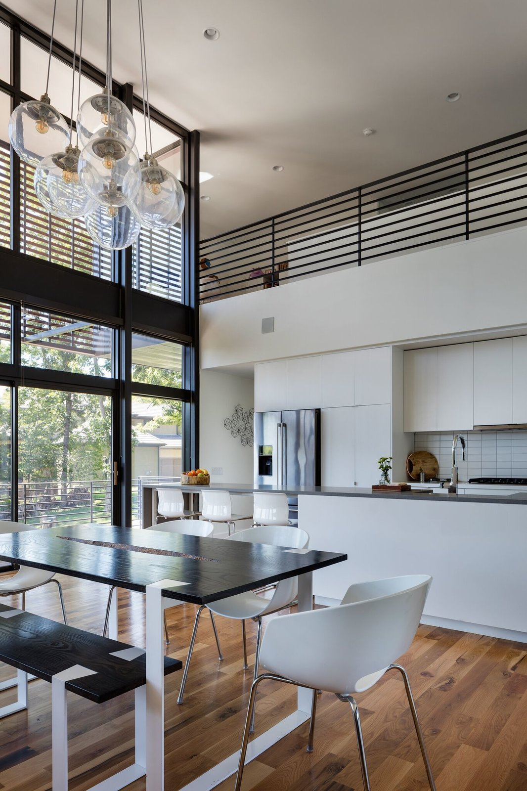 Kitchen and dining area Tagged: Kitchen.  Modern Lodge by Maria Doyle