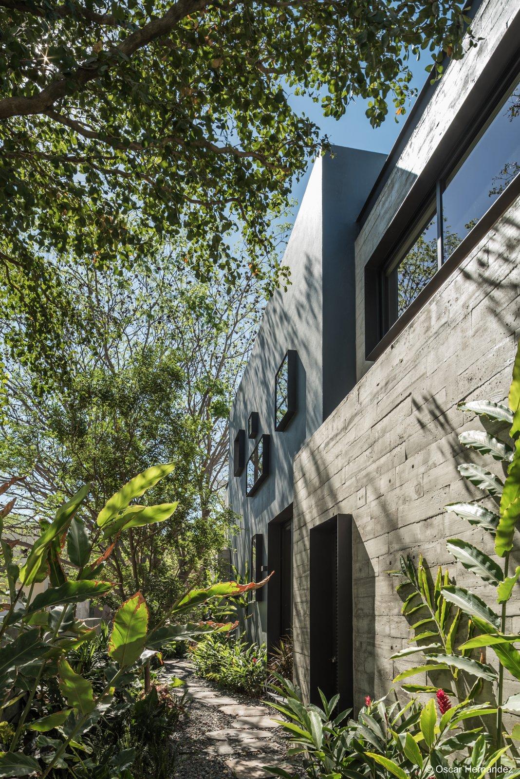 Lateral facade  Casa Kalyvas by Taller de Arquitectura