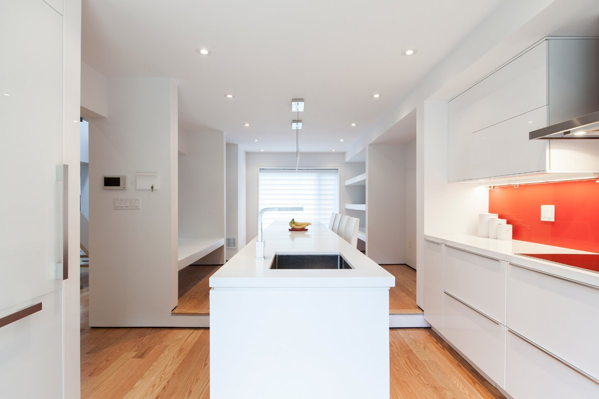 Kitchen: looking toward dining room  Thorax House by rzlbd