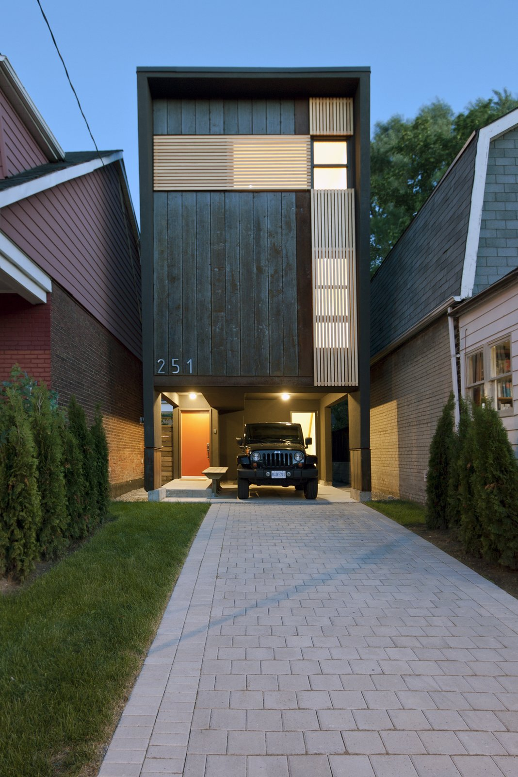 Main elevation  Shaft House by rzlbd