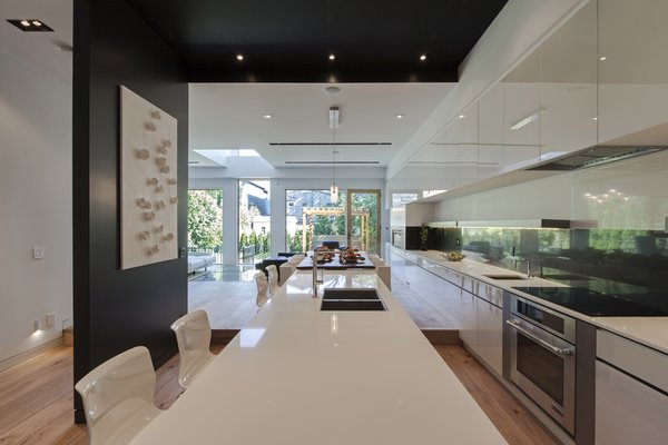 main floor 50' long millwork, looking toward the living room Photo 4 of Tetris House modern home