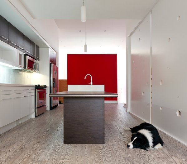 kitchen & dining, looking toward the RED box Photo 5 of Whale House modern home