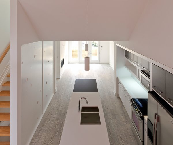 above the RED box, looking toward the kitchen & dining Photo 6 of Whale House modern home