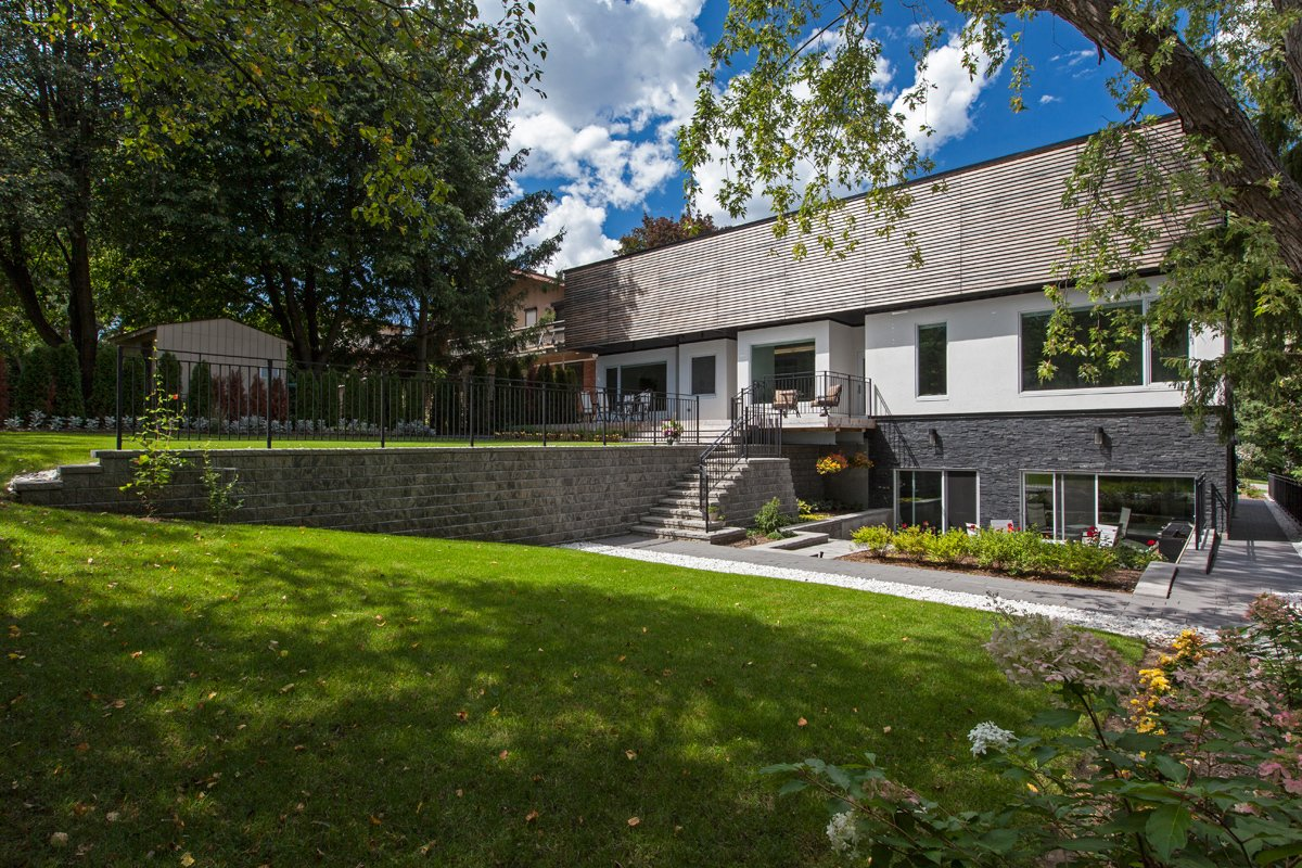 rear elevation  Gallery House by rzlbd