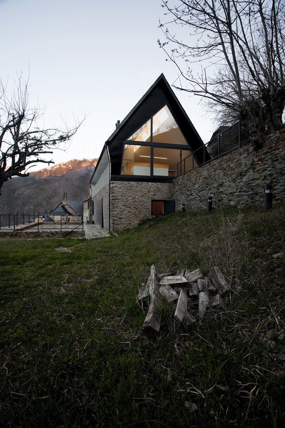 Tagged: Outdoor.  Photo 2 of 10 in 10 Modern Renovations to Homes in Spain from Modernizing An Historic House in the Pyrenees