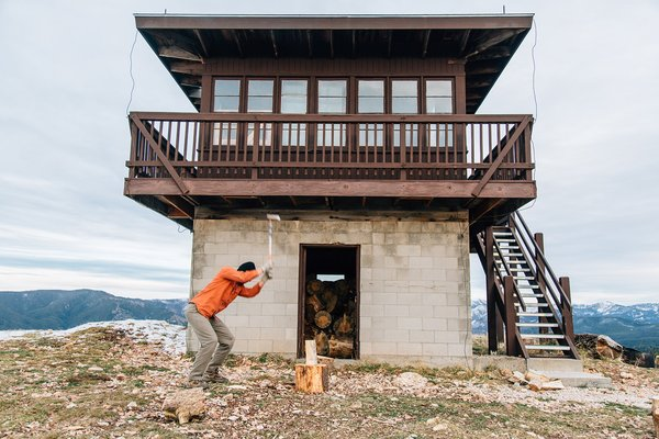 A Fire Lookout Tower From the 1930's is Preserved as a Rustic Getaway - Photo 1 of 6 -