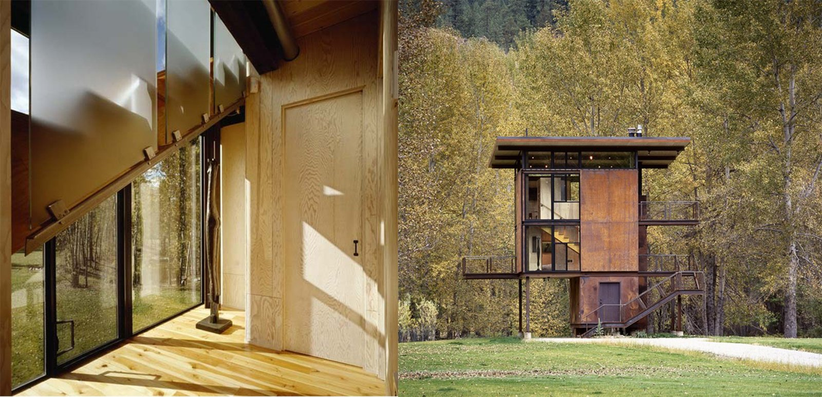 Inside Washington State's Steel Cabin On Stilts - Photo 4 of 6