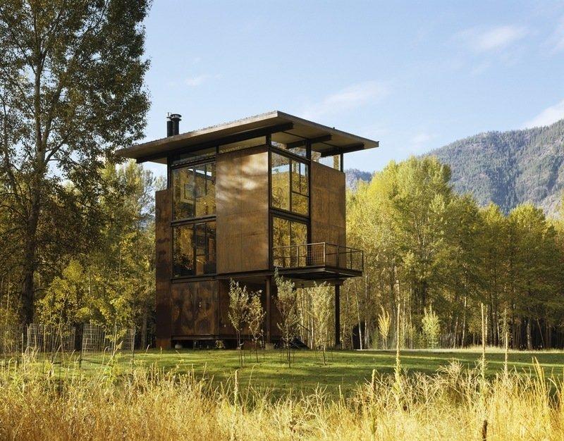 Inside Washington State's Steel Cabin On Stilts - Photo 6 of 6