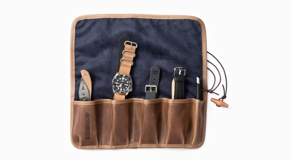Worn and Wound's  Leather Canvas Watch Roll