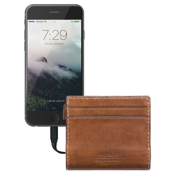 Slim Leather Wallet & Charger from Nomad