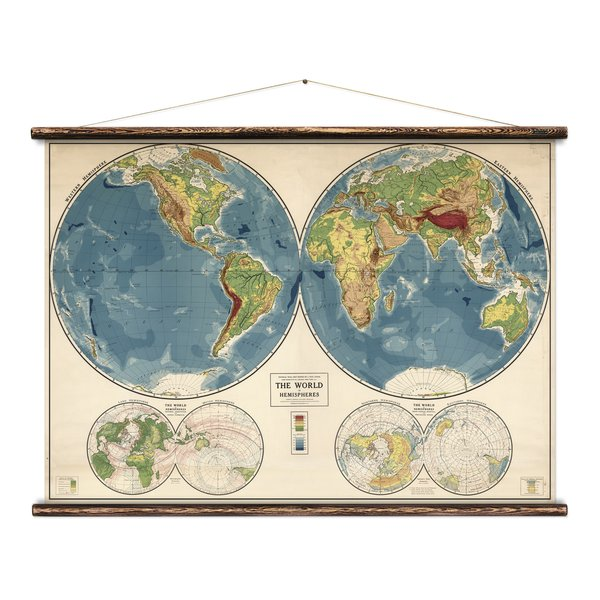 The World In Hemispheres Print
