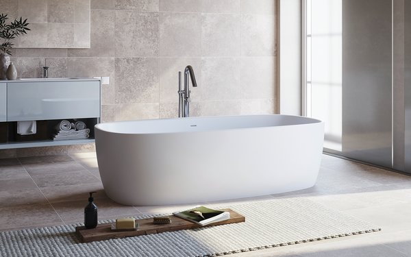 Aquatica Coletta Solid Surface Freestanding Bathtub
