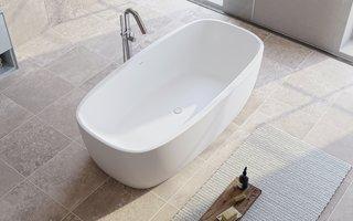 Aquatica Coletta Solid Surface Freestanding Bathtub - Photo 1 of 2 -