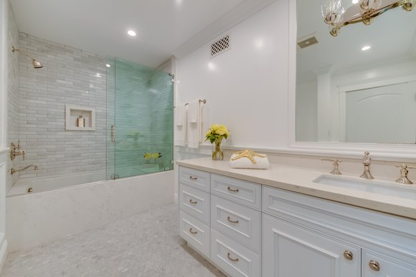 One of five bathrooms Photo 9 of Brand New Cape Cod in Bel Air asks $6.75 million modern home