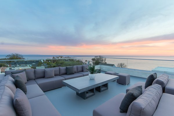 Panoramic views from the rooftop deck Photo 2 of 2017 Pacific Palisades Custom Home Draws Breathtaking Views for $6.5 million modern home