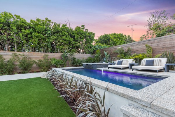 Salt-water pool and spa Photo 6 of 2017 Pacific Palisades Custom Home Draws Breathtaking Views for $6.5 million modern home