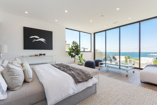 Multi-directional views from the master bedroom Photo 8 of 2017 Pacific Palisades Custom Home Draws Breathtaking Views for $6.5 million modern home