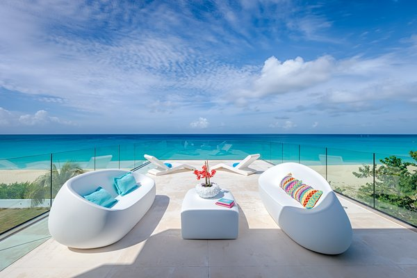 Complete tranquillity on The Beach House deck Photo  of The Beach House modern home