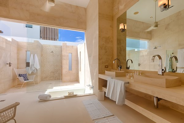 Master bath with outdoor shower Photo 3 of The Beach House modern home