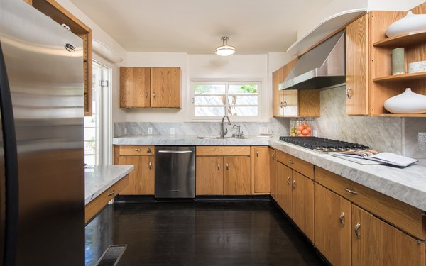 Light and airy kitchen  Photo 4 of Max Ember's Art Deco Inspired Streamline Moderne modern home