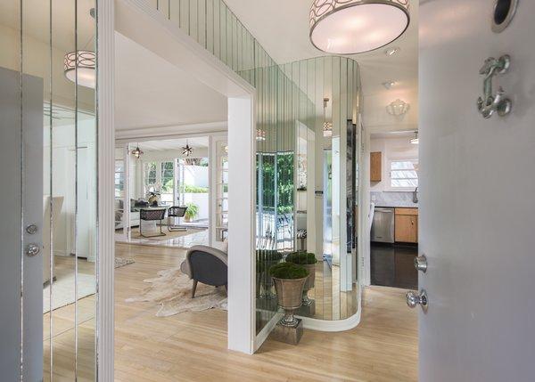 Front door entrance impresses Photo 5 of Max Ember's Art Deco Inspired Streamline Moderne modern home