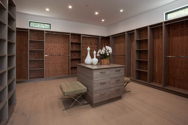 Incredible attention was paid to maximizing natural light throughout the home. Clerestory windows in the master's showroom closet are a gracious detail.  Photo 10 of Cherokee Contemporary modern home