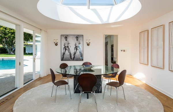 A sculptural skylight in the dining room Photo 5 of Hillcrest Road modern home
