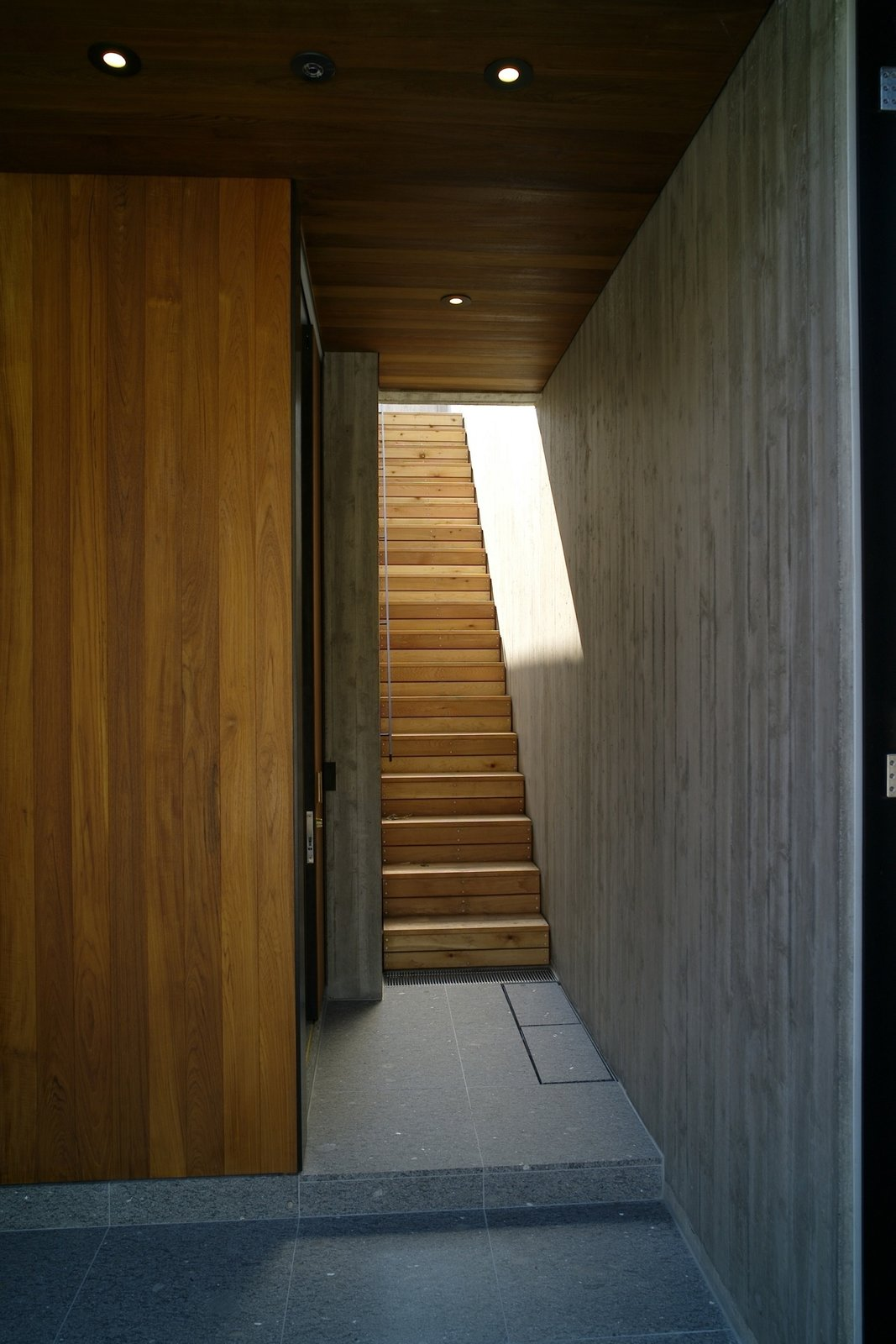 Tagged: Staircase and Wood Tread.  House in Akiya by Nobuo Araki / The Archetype