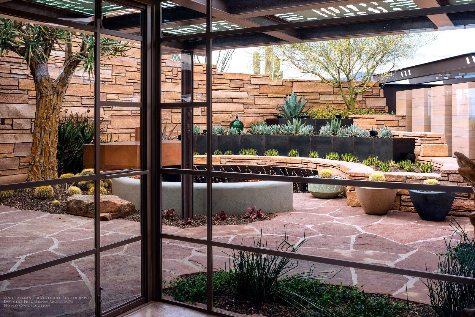 Kiva Courtyard  Saguaro Ridge/Orem Residence by Douglas Fredrikson
