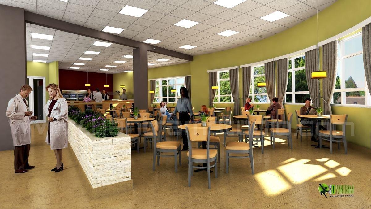 3d modern hospital lobby interior design viewyantram animation